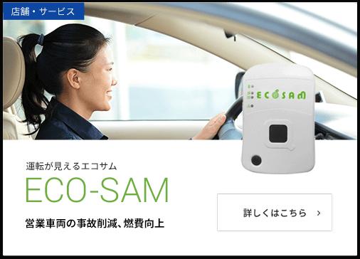 運転が見えるエコサム ECO-SAM 営業車両の事故削減、燃費向上