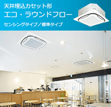 エコ・ラウンドフロー天井埋込カセット形