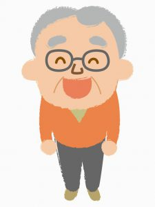 おじいさん_喜ぶ
