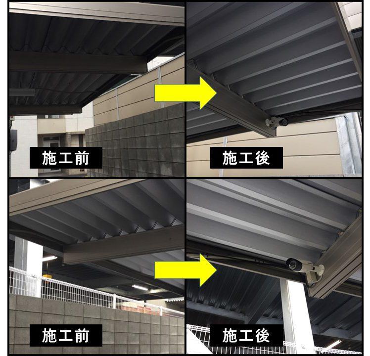 防犯カメラ_センサー取付_工事_3