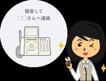 お客様からかかってきた電話をまるごと【自動通話録音】し、そのまま担当者へ【自動メール転送】