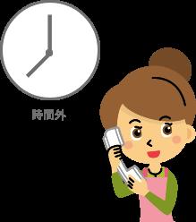 【時間外転送】の導入で時間外は音声対応!
